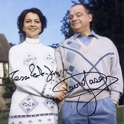 Sir David Jason Tessa Peake Jones Personally Double Signed 10x8 inch Colour Photograph