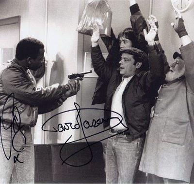 Sir David Jason & Vas Blackwood Personally Signed Shadow 10x8 inch Photograph #1