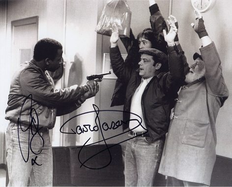 Sir David Jason & Vas Blackwood Personally Signed Shadow 10x8 inch Photograph #1