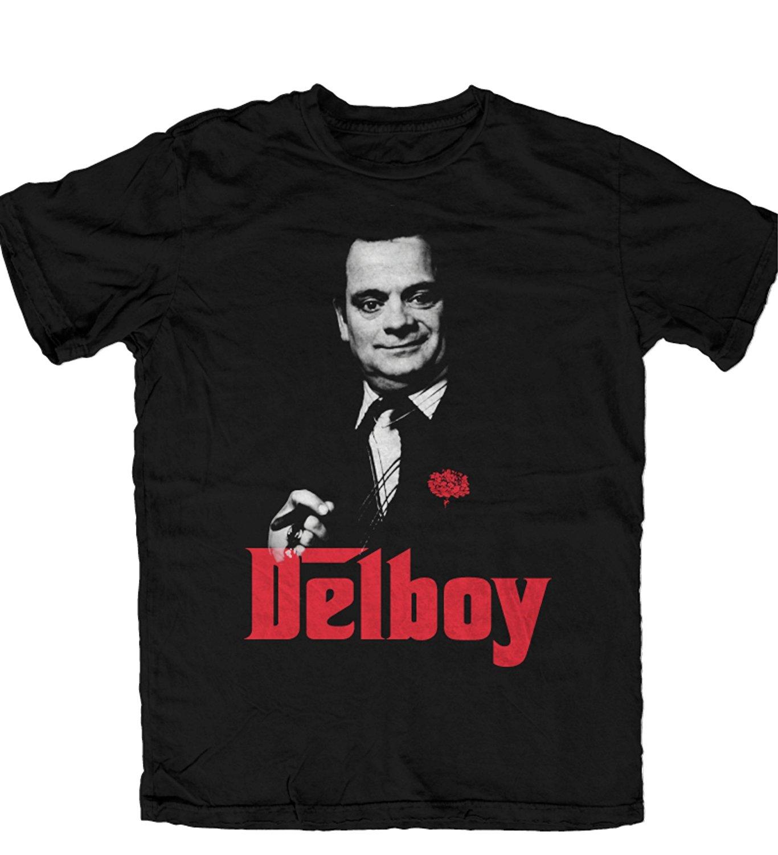 1d74a360 Only Fools and Horses Del Boy Godfather OFFICIAL T Shirt Black   Del ...