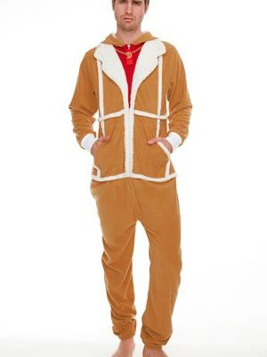 Del Boy TanWhite Adult Mens Jumpsuit