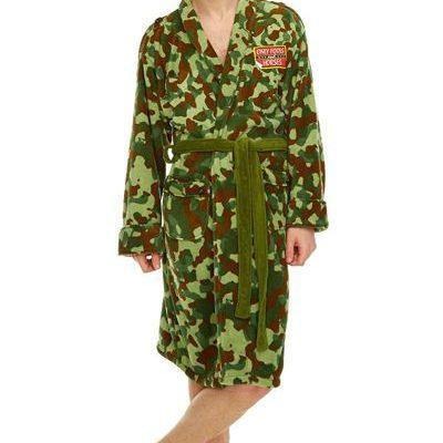 Rodney Green Camo Jacket Adult Mens Fleece Bathrobe