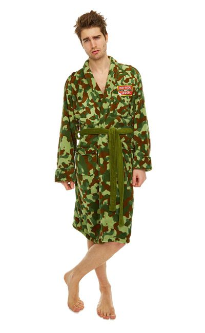 Rodney Green Camo Jacket Adult Mens Fleece Bathrobe