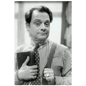 DEL BOY LARGE BW POSTER