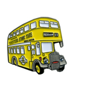 TROTTERS ETHNIC TOURS BUS BADGE
