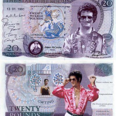 Tony Angelino PERSONALLY SIGNED Bank Note