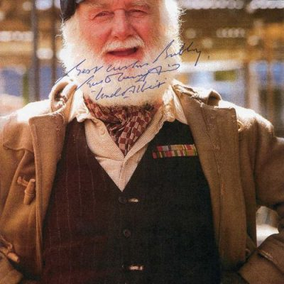 Buster Merryfield Personally Signed Book Page - VERY RARE