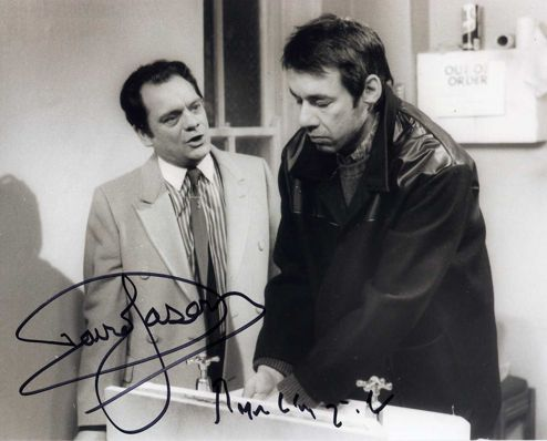 David Jason and Roger Lloyd Pack Double Signed 10x8 WS