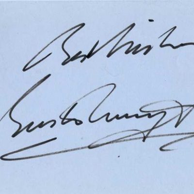 Buster Merryfield Uncle Albert Signed Album Page (undedicated) 6x4 approx