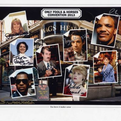Large 16x12 Reunion Cast Photo Personally Signed by All EIGHT Actors including Roger Lloyd Pack