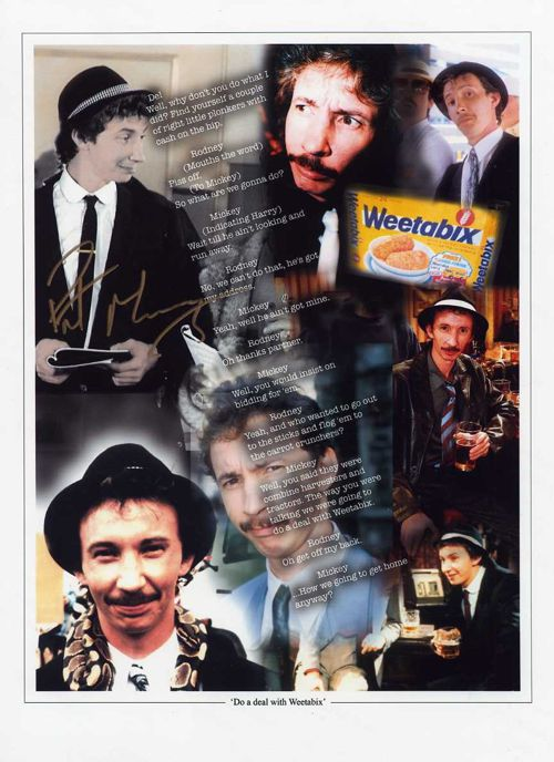 Mickey Pearce Make a Deal with Weetabix' 16x12 Autographed Character Print