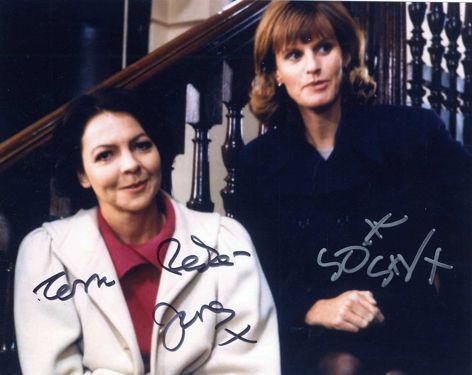 Cassandra & Raquel Double Hand Signed 10x8 Photograph