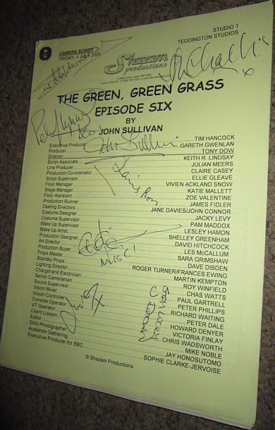 Complete Green Green Grass Script Multi Signed