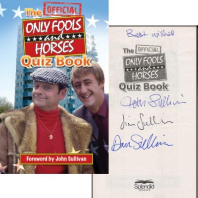Only Fools Quiz Book Signed by John Sullivan