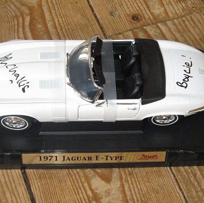 Boycie's E Type Jaguar Large 1:18 Scale - Personally Signed by Boycie