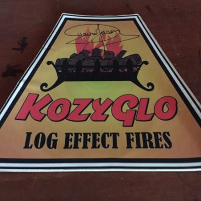 Gas Effect Log Fires Original Prop Signed by David Jason