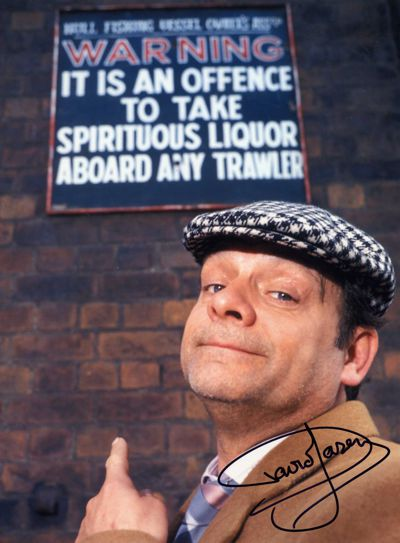 David Jason Personally Signed LARGE 16x12 inch Photograph Point