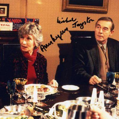 Ann Lynn Michael Jayston Double Hand Signed 10x8 Photo