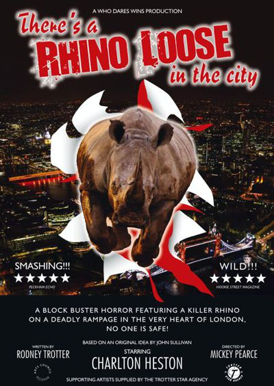 Theres a Rhino Loose in the City Large (A2) Film Poster
