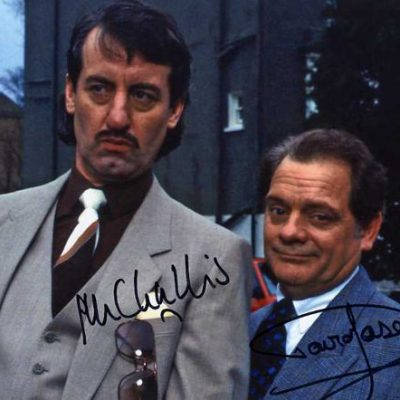 David Jason and John Challis Chain Gang Double Signed 10x8
