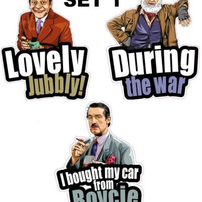 Only Fools Car Window Stickers Set of 3