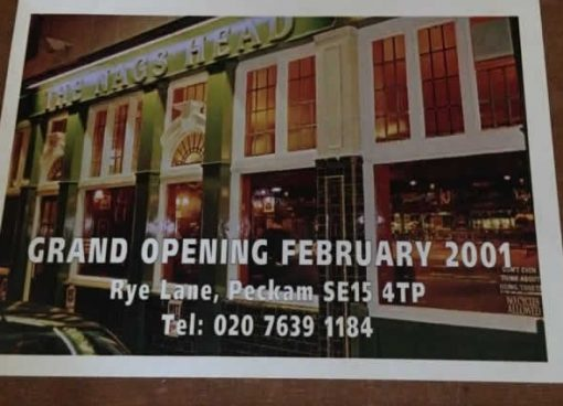 Multi Signed Ticket for Opening of Nags Head Peckham