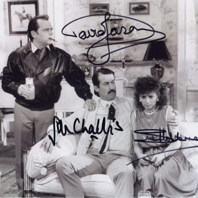 Sir David Jason Boycie & Marlene Triple Signed 10x8