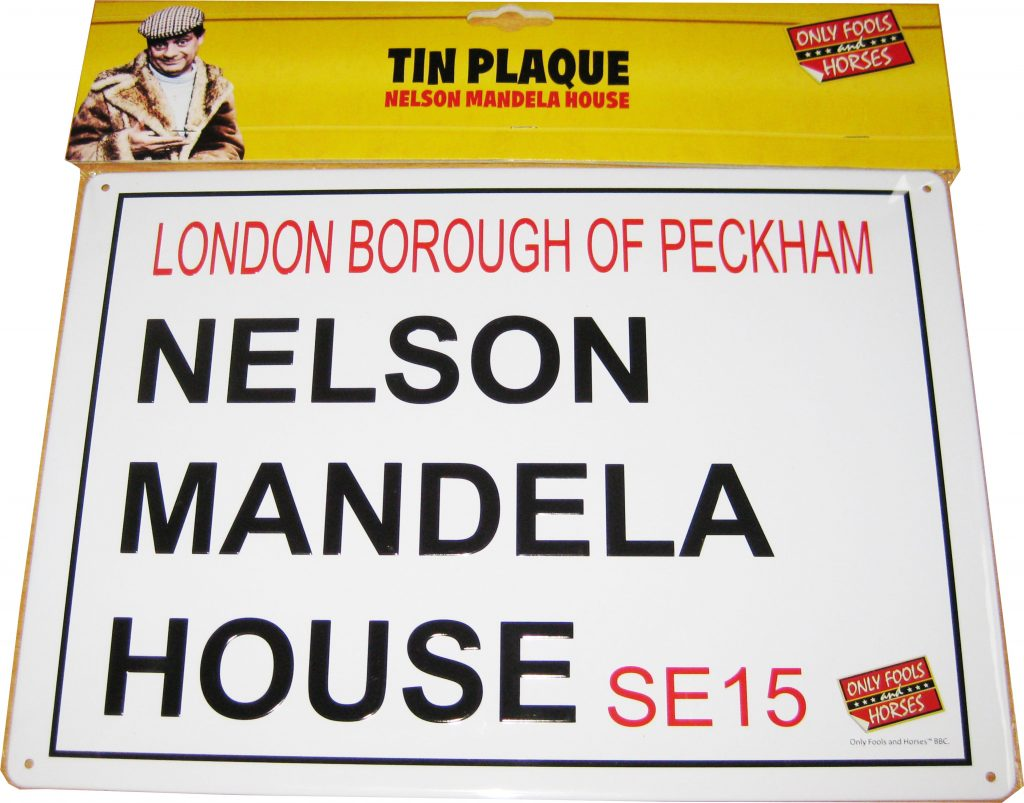 only fools and horses nelson mandela house sign official del boys online shop. Black Bedroom Furniture Sets. Home Design Ideas