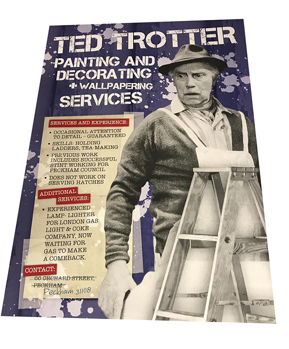 Only Fools and Horses Grandad Trotter Painting Co Glossy ...